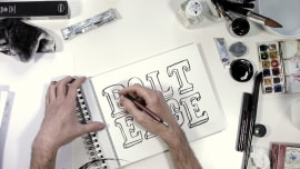 By Hand and On The Cover. A Calligraphy, and Typography course by Sergio Jiménez
