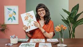 Aquarela botânica: ilustre a anatomia das flores. Um curso de Ilustração de Luli Reis