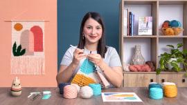 Intarsia crochê: teça suas tapeçarias. Um curso de Craft de Flor Samoilenco
