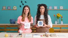 Design und Herstellung portugiesischer Fliesen. A Handarbeit course by Gazete Azulejos