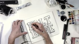 A mano y en portada. A Calligraph, , T, and pograph course by Sergio Jiménez