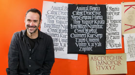 Caligrafía con góticas potentes. A Calligraph, , T, and pograph course by Oriol Miró Genovart