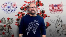Cómo diseñar un tatuaje. Um curso de Ilustração de Aníbal  Pantoja