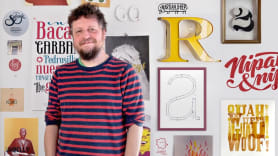 Diseño de una Tipografía digital de la A a la Z. A Calligraph, , T, and pograph course by Juanjo López