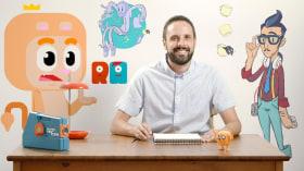 Animation von Logos und Headern. A 3-D und Animation course by Rubén García