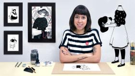 Einführung in die chinesische Tintenillustration. A Illustration course by Hilda Palafox