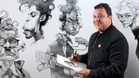 Retrato en caricatura con grafito. Un curso de Ilustración de Víctor Vélez