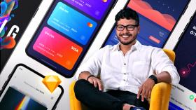 Projeto de um aplicativo móvel. Um curso de Web Design e App de Christian Vizcarra
