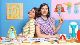 Técnicas de estampagem para crianças. Um curso de Craft de Pin Tam Pon