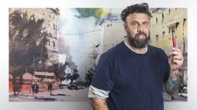 """Paisajes urbanos en acuarela. Un curso de Ilustración de Daniel """"Pito"""" Campos"""