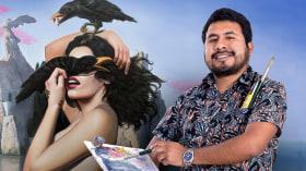Introduzione alla pittura surrealista ad olio. Un corso di Illustrazione di Jhoel Mamani Espinoza
