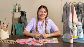 Introduction à la décoration de tissu effet marbré. Un cours de Craft de Carla Qua