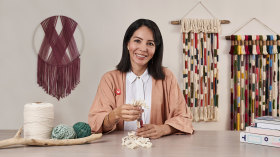 Macramé : techniques de tissu noué. Un cours de Loisirs créatifs de Pluumbago