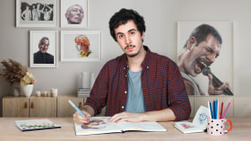 Album di ritratti ad acquerello. Un corso di Illustrazione di Carlos Rodríguez Casado