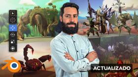 Modelado de personajes low poly para videojuegos . Un curso de 3D y Animación de Daniel Gutiérrez