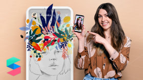 Illustrated Filters for Facebook and Instagram Stories. A Illustration course by Beatriz Ramo (Naranjalidad)