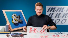 Introducción al brush lettering. Un curso de Caligrafía y Tipografía de James Lewis
