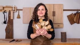 Talla de cucharas en madera. Un curso de Craft de Andrea Cortés (Barcelona Wood Workshops)