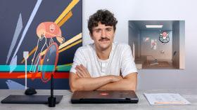 Técnicas combinadas de ilustração 2D e animação 3D. Um curso de 3D, Animação e Ilustração de Martiniano Garcia Cornejo