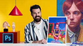 Retratos pictóricos con técnicas digitales. Un curso de Ilustración de Alex de Marcos García