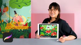 Illustration et création de GIF sur Procreate. Un cours de Illustration, 3D , et Animation de Natalia Rojas