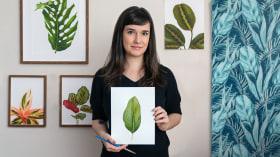 Acuarela botánica para estampados. Un curso de Ilustración de Isabela Quintes