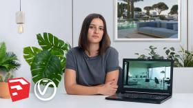 ArchViz mit V-Ray für SketchUp . A 3-D, Animation, Architektur und Raumgestaltung course by María Alarcón