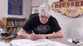 Calligraphy for an Ex Libris. A Calligraphy, and Typography course by Ricardo Rousselot Schmidt