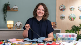 Upcycling with Embroidery. A Craft course by Kseniia Guseva
