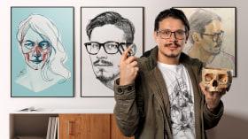 Dibujo anatómico de la cabeza humana. Un curso de Ilustración de ZURSOIF Miguel Bustos Gómez