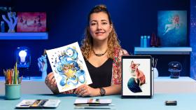 Tecniche ad acquerello per illustrazioni da sogno. Un corso di Illustrazione di Gemma Capdevila
