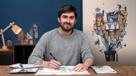 Illustrated Stories: From Idea to Paper. A Illustration course by Alfredo Cáceres