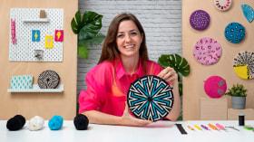 Tapestry rotondo: disegna pattern e complementi. Un corso di Artigianato di Poetryarn
