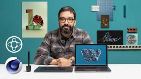 Lettering 3D animado con X-Particles. Un curso de 3D, Animación, Caligrafía y Tipografía de Erich Gordon