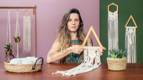 Introduction à la tenture en macramé. Un cours de Loisirs créatifs de Natalia Corbi (Aram Studio)