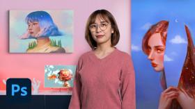 Iluminación y color para retratos digitales en Photoshop . Un curso de Ilustración de Karmen Loh (Bearbrickjia)