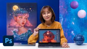 Retratos digitales de fantasía con Photoshop. Un curso de Ilustración de Karmen Loh (Bearbrickjia)