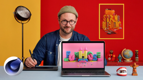3D Typography: Playing with Color and Volume. A 3D, Animation, Calligraphy, and Typography course by Thomas Burden
