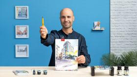 Sketching arquitectónico para ilustraciones urbanas. Un curso de Ilustración de yolahugo