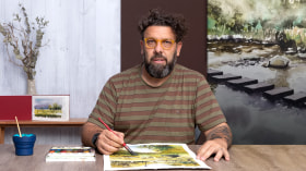 """Natural Landscapes in Watercolor. A Illustration course by Daniel """"Pito"""" Campos"""