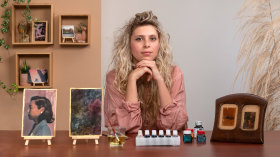 Colorização de fotografias com aquarela. Um curso de Fotografia, Vídeo e Ilustração de carine wallauer