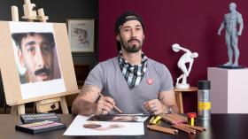 Realistic Chalk Pastel Portraits. A Illustration course by Maximiliano Bagnasco