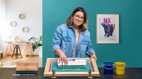 Foto-Siebdruck mit Vierfarbendruck . A Handarbeit, Fotografie und Video course by Amazink