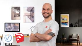 Innenraum-Rendering mit SketchUp und V-Ray Next. A Architektur und Raumgestaltung course by Giancarlo Pava Durand