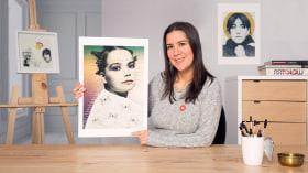 Graphite Portraits with Digital Design. A Illustration course by Patricia Escalante