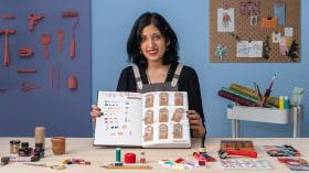Cuaderno de dibujo: explora tu proceso creativo. Un curso de Ilustración de Karishma Chugani