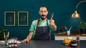 Illustration en batik : technique de teinture à réserve. Un cours de Illustration , et Craft de Ikaro Batik