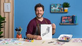 Ilustração criativa: brinque com materiais inesperados. Um curso de Ilustração de Adolfo Serra