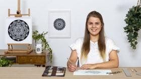 El arte de dibujar mandalas: crea patrones geométricos. Un curso de Ilustración de Lizzie Snow