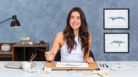 Techniken der naturalistischen Illustration: Wale in Aquarell. A Illustration course by Antonia Reyes Montealegre